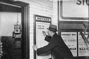Tube through the decades: London Unnderground, Customer Complaint, 1922
