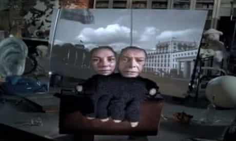 The Brandenburg Gate in David Bowie's music video for Where Are We Now?