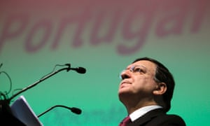 European Commission President Jose Manuel Durao Barroso delivers a speech during the opening of a Portuguese diplomatic meeting at Lisbon's Champalimaud Foundation centre, Thursday, Jan. 3, 2013.