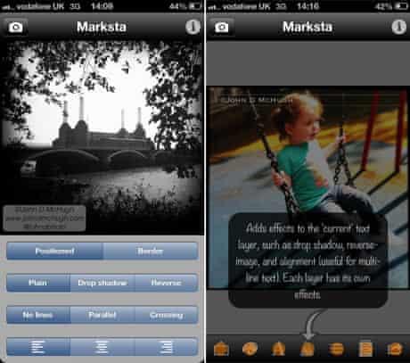 A screenshot from the Marksta app