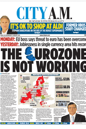 City AM front page, 9 January 2013