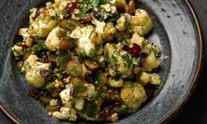 Yotam Ottolenghi's cauliflower, grape and cheddar salad