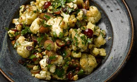 Yotam Ottolenghi's cauliflower, grape and cheddar salad