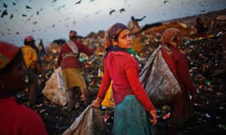 Indian Rag Pickers in Delhi