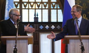 UN-Arab League peace mediator Lakhdar Brahimi and Russia's foreign minister Sergei Lavrov held talks in Moscow 29 December.