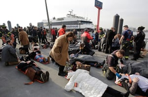 Seastreak ferry: Victims of the Seastreak Wall Street ferry accident are aided