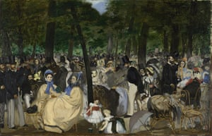 Manet: Music in the Tuileries Gardens, 1862