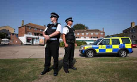 Police patrol in Dover, UK