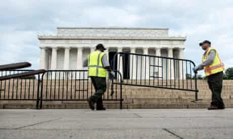 Lincoln Memorial closed shutdown