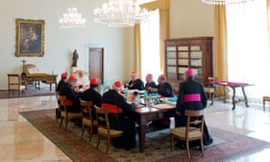 Cardinals and Pope Francis 1 October 2013