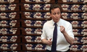 David Cameron at a bread factory