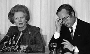 Wilfried Martens and Margaret Thatcher in 1987.