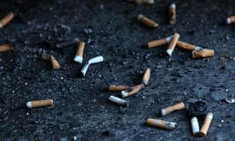 cigarette butts smoking