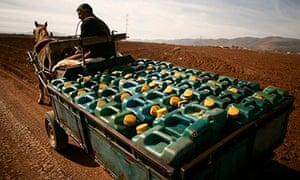Morocco and Algeria border petrol