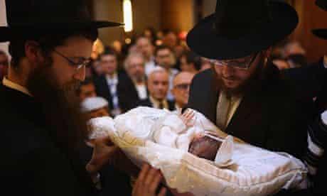 Orthodox Jews Hold Circumcision Ceremony