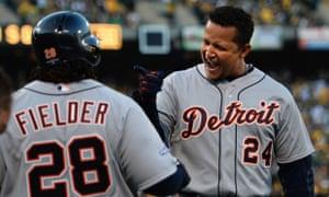 Miguel Cabrera and Prince Fielder, Detroit Tigers vs Oakland A's