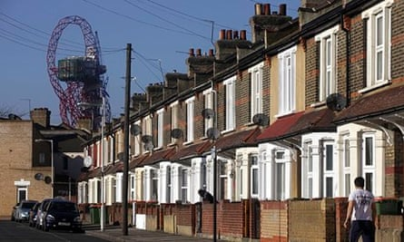 Houses in Newham, east London