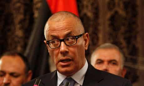 Libyan prime minister Ali Zidan