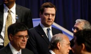 George Osborne at IMF meeting
