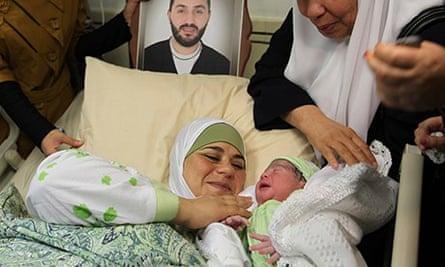 first gaza prison baby on way