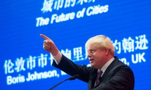 Boris Johnson addresses staff and students at Peking University in Beijing during a week-long visit to China on 14 October 2013.