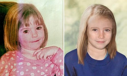 Pictures of Madeleine McCann when she disappeared and how she might look at age nine