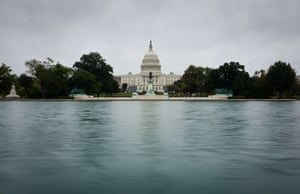 The US Capitol is seen on October 13, 2013 in Washington, DC. Photograph: MANDEL NGAN/AFP/Getty Images