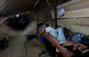 Gaza tunnels: Gaza's tunnel smugglers are mostly idle these days. Some rest on cots in th