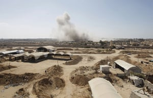 Gaza tunnels: Smoke rises after a controlled explosion at a smuggling tunnel dug beneath