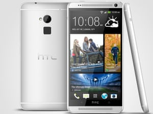 The HTC One Max phablet sports a fingerprint scanner on the rear of the phone.