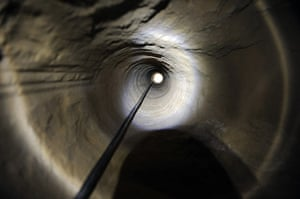 Gaza tunnels: A view of a ventilation shaft along a tunnel allegedly dug by Palestinians