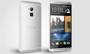 HTC One Max phablet has a fingerprint scanner on the back.