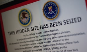 The Silk Road's seizure notice.