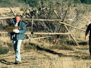 Laramie police carry away evidence from the scene  of Matthew Shepard's death in 1998.