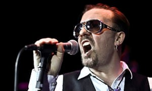 David Brent on stage