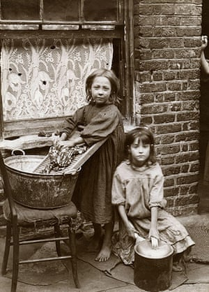 Spitalfields nippers: Two girls washing clothes