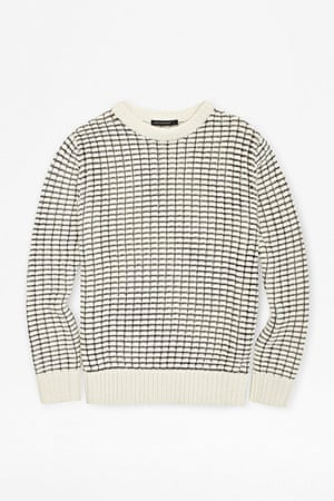 jumpers - weekend fashion: White jumper with black grid