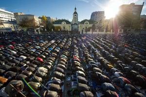Eid al-Adha: Kyrgyz Muslims pray on the first day of the Kurban Bayram celebrations in M