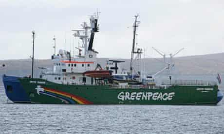 Greenpeace vessel Arctic Sunrise after being seized by Russian authorities