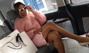 Ciara wears a pink fluffy jumper on Instagram