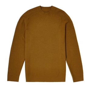 jumpers - weekend fashion: Ribbed brown woollen jumper