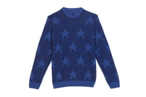 jumpers - weekend fashion: Blue Jumper with Stars