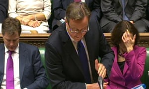 David Cameron at prime minister's questions on 16 October 2013.