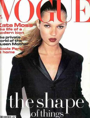 Kate Moss on the cover of Vogue August 1994.