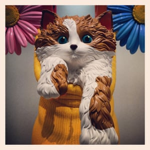 """Jeff Koons work entitled """"Cat on a Clothes Line"""" on display at the Frieze art fair"""