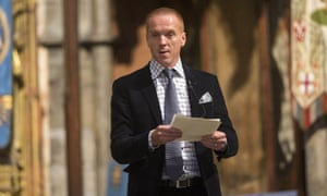 Actor Damien Lewis reads Henry Birtles new harvest poem during the British Food Fortnight's harvest festival at Westminster Abbey in London, UK.
