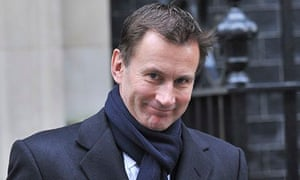 Jeremy Hunt at Downing Street