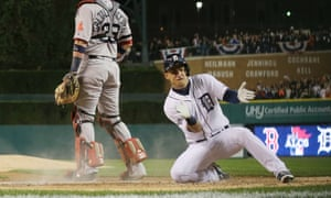 The Detroit Tigers scored seven runs off Jake Peavy on route to a 7-3 victory over the Boston Red Sox in game four of the American League Championship Series.