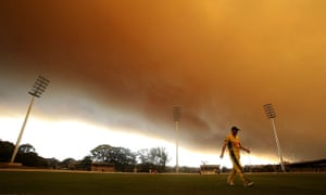 Australia fires: Play during the Ryobi Cup cricket match between the South Australian Redbac