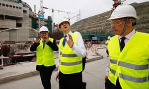 George Osborne with Guo Liming of Taishan Nuclear Power and Vincent de Rivaz of EDF